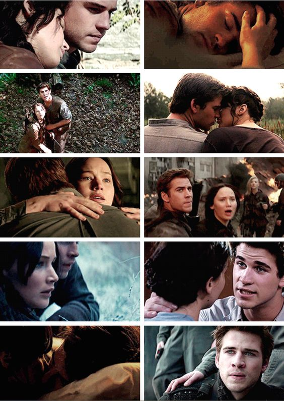 Gale and Katniss throughout the Hunger Games Series