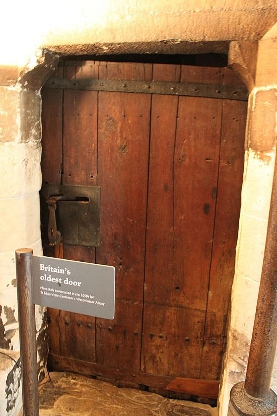 Oldest door in England at Westminster Abbey. Sign says it was made in the 1050s for St Edward the Confessor.
