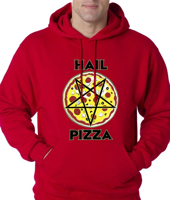 Hail Pizza Pentagram Adult Hoodie Sweatshirt