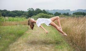 thème créatif, beau, nature, impesanteur, fille, créatif, jambes, brun clair