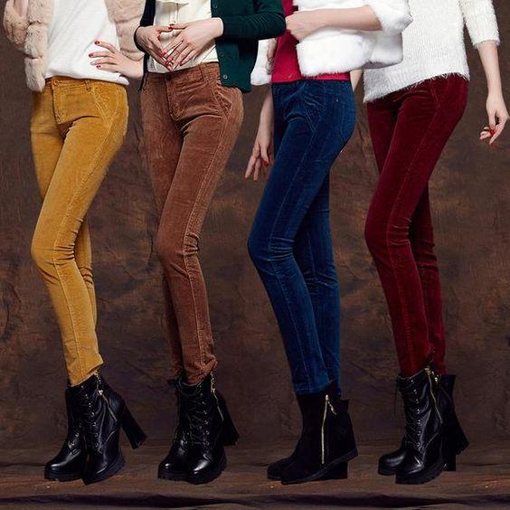 Slim Stretch Corduroy Pants