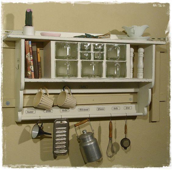 Aus der Holzwerkstatt von Ansolece Vintage, Shabby chic, Regal - regale für küche