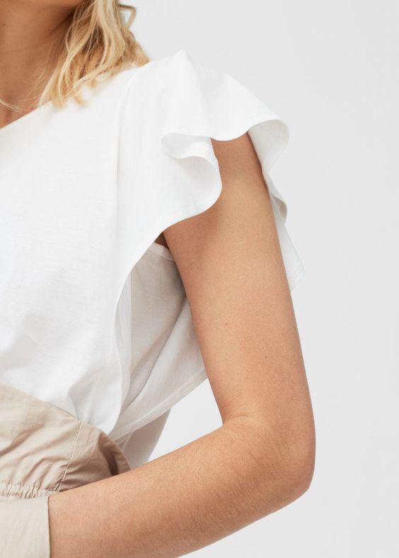 Camiseta manga volante | MANGO 5'99€