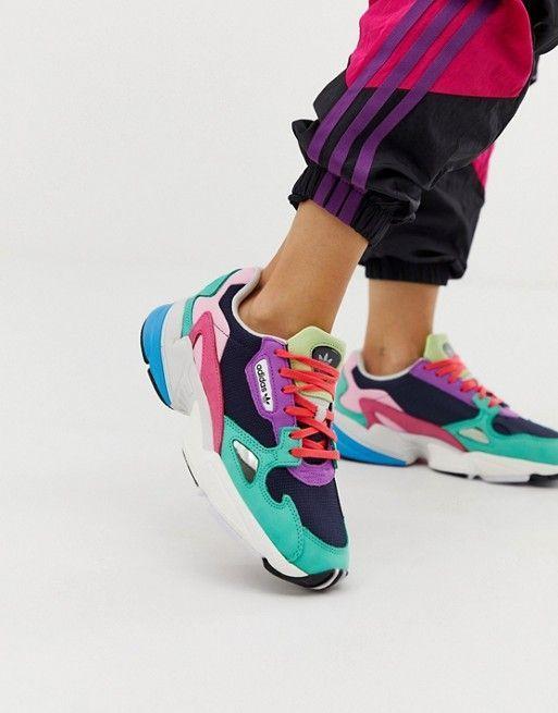 preparar creer excusa  adidas Originals Falcon sneakers in navy and green | ASOS #sneakersfashion  | Sneakers fashion outfits, Sneakers, Navy and green