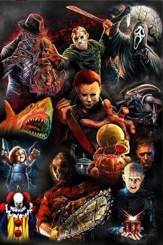 The Classic Horror Characters Horror Movie Icons Horror Movie Art