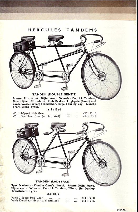 Hercules Cycles Catalogue 1938 From The Archives Of The Veteran