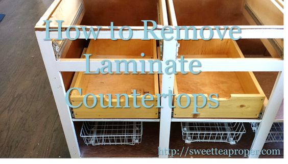 Countertop Removal : ... Countertops DIY Home Renovation Kitchen Countertop Removal