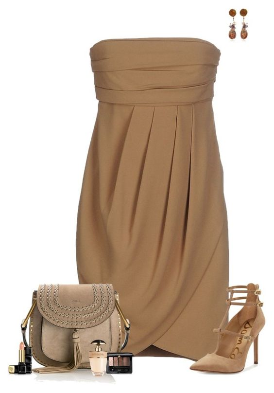 """""""Set 1725"""" by lapshi4ka ❤ liked on Polyvore featuring Wendy Yue, Intropia, Sam Edelman, Chloé, Guerlain and Prada"""