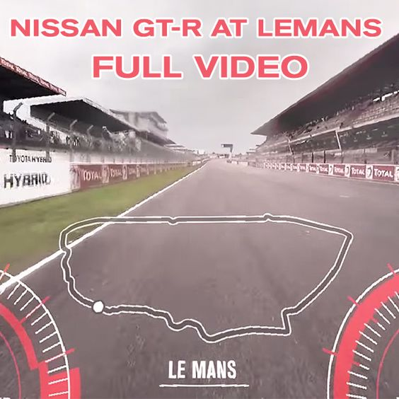 AMAZING VIRTUAL REALITY RACE! Get in the seat of a Nissan GT-R on a 360 degree lap at  LeMans! #LeMans #GTR VIEW NOW: