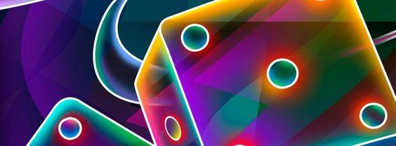 Figuras de dados coloridos #facebook #cover