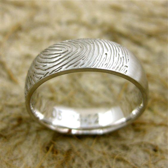 Adzia Custom Jewelry | FINGERPRINT ring
