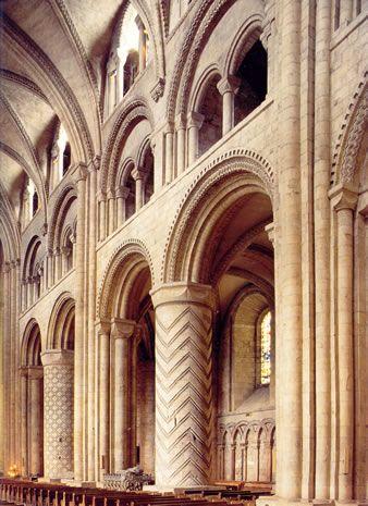 Catedral de durham el alzado incluye grandes arcadas for Catedral de durham interior