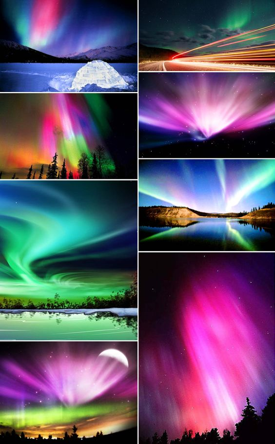 the beautiful Northern Lights in Alaska...just one time and i can die happy...