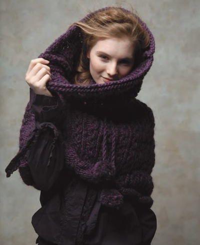 Woodland Nightfall Knit Snood | AllFreeKnitting.com