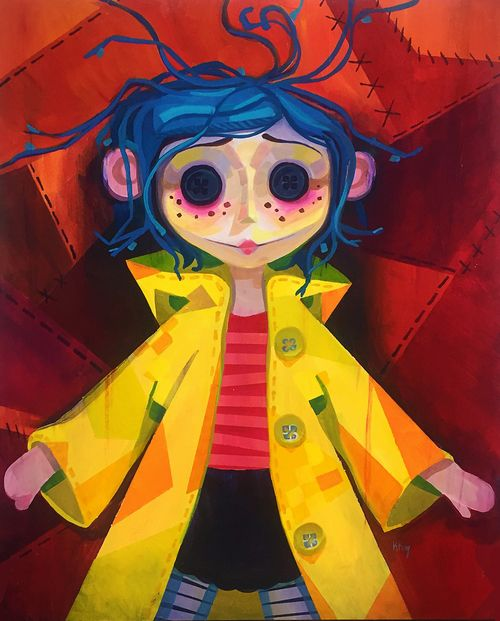 Colorful Coraline Kristy Kay Coraline Art Coraline Drawing Coraline Doll