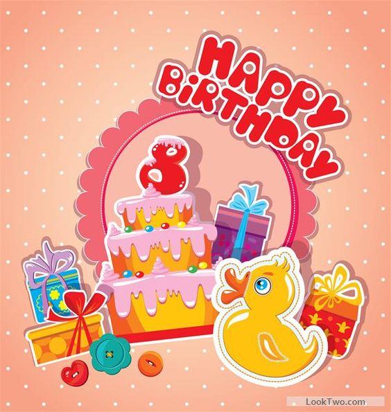 Free Baby birthday card with cake vector material 08 vector – Free Baby Birthday Cards