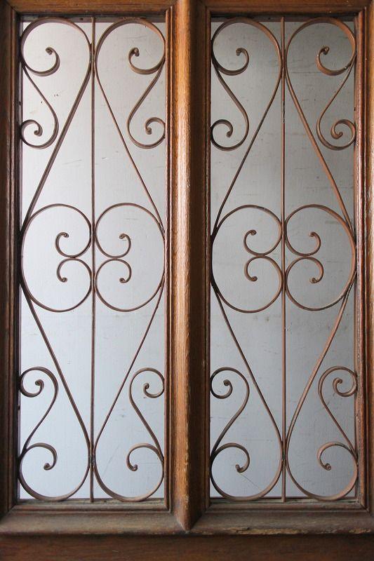 シンプルアイアン飾り 玄関ドア フランス アンティークドア 直輸入販売 Boncote アンティーク ドア 玄関ドア フランスアンティーク