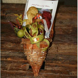 Jimmy Beans Wool Cornucopia Gift Basket with MadelineTosh yarn. What a cute idea for yarnies!