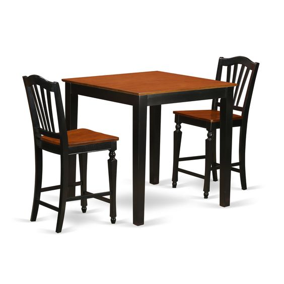 Wood 3-piece Pub Table Set