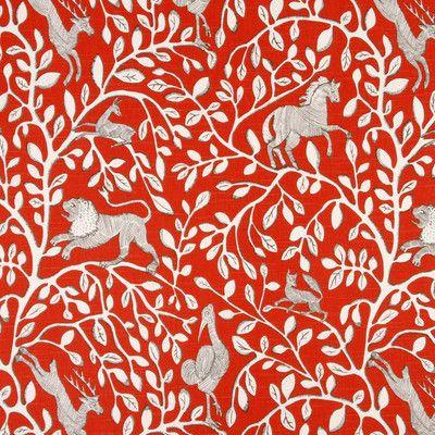 DwellStudio Pantheon Fabric - Persimmon