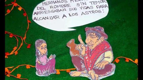 """""""El Gusanito Enamorado"""" (Mitología Aymara, Bolivia) Cuentan los Mayores que un día después de la noche de los tiempos, un Ser diminuto fue atrapado por una ilusión y el Amor Verdadero le libero del velo de la mentira."""