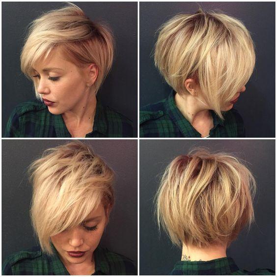 """Eeeeek! I love my new friend Chelsea and her new haircut I created for her tonight! #ilovemyjob @zimbalisalonspa"""