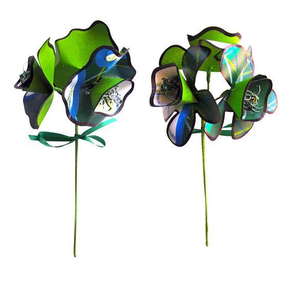 Passion Works - Ohio University Bobcat 3 Stem Paper Bouquet