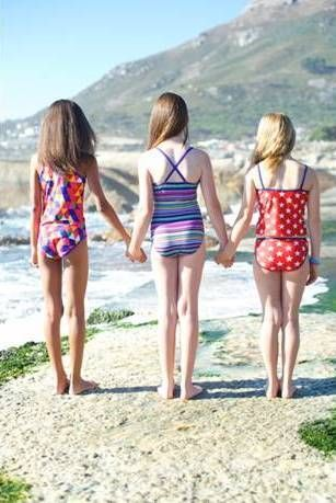 The Tweens Having Fun In The Sun On Their Day Out At The