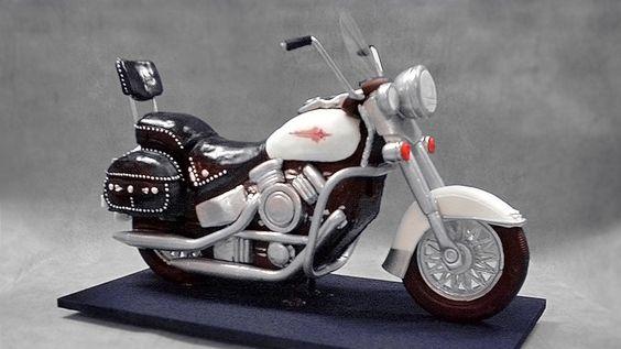 3D Harley Davidson Motorcycle Cake