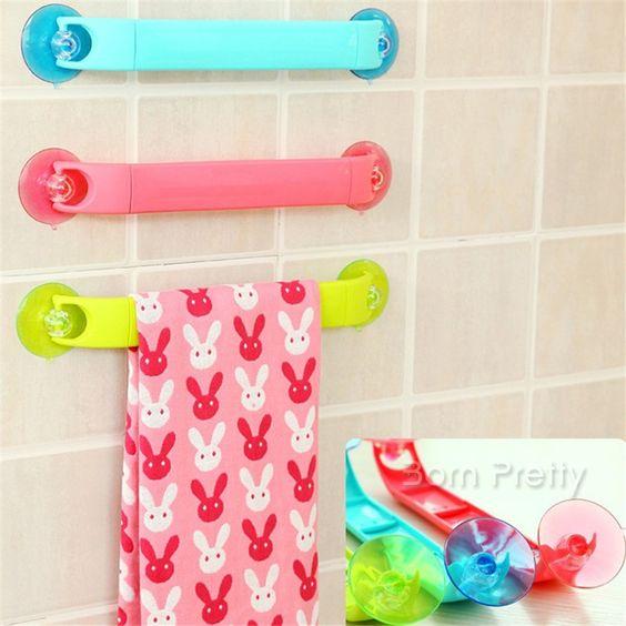 9,83 1Pc Handtuchhalter Saug Richtbare Handtuchwärmer Badezimmer - handtuchhalter für küche