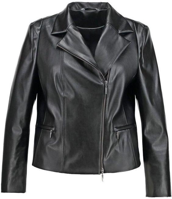 Pin for Later: 16 Übergangsjacken für einen stylischen Frühjahr ohne Frostbeulen  CHC Fashion Kunstlederjacke in Schwarz (100 €)