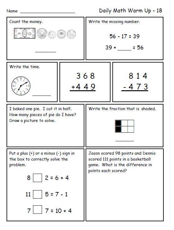 Calcul le nombre myst rieux CE1CE2 – Grade 4 Math Review Worksheets