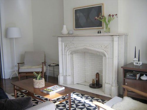 Subway Tile Fireplaces (Too much white on the walls, it needs pictures or something, but otherwise...yea!!)