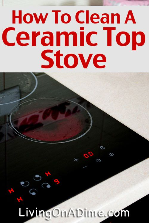 How To Clean A Ceramic Top Stove Step By Step Ceramics