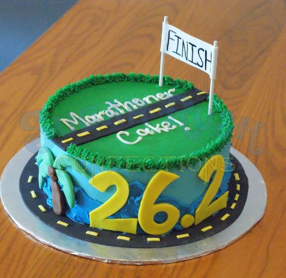 Cake Decorating Ideas Runners : Marathon Cake. Brooke could totally make this!!! Running ...