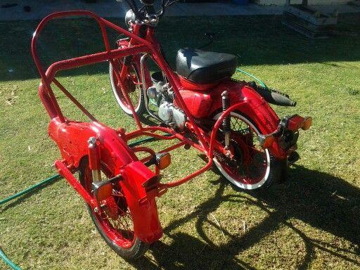 Awesome Sidecar Custom Ct110 Postie Bikes Pinterest Sidecar