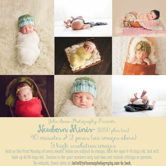 Visit her at www.JolieAnnePhotography.com #minisession #newborn #poses