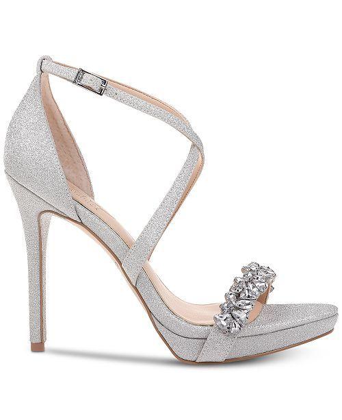 Evening sandals, Jewel badgley mischka