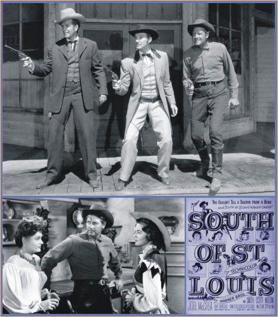 Joel McCrea Ranch | Douglas Kennedy, Zachary Scott e Joel McCrea. Abaixo Joel McCrea