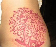 New obsession- red ink tattoos. They are so beautiful! I found one of a protea, a common (and beautiful) flower in South Africa that I LOVE!