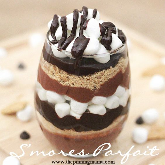 Who knew it was so easy to make a dessert this beautiful!  Sinful S'mores Parfait