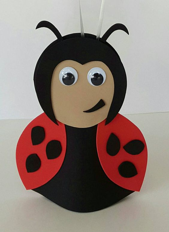 Great idea for 1st birthday party https://www.etsy.com/uk/listing/290289163/ladybird-party-decoration-balloon-weight: