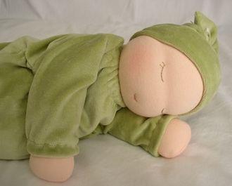 Heavy Baby Waldorf Doll   Wunderschöne Waldorf Puppe perfekt für Kleinkinder (0-3 Jr). Idee zum Selbermachen! Gefüllt mit Bio-Hirse und Lavendel um ihr etwas Gewicht und das Gefühl eines echten kleinen Babys zu geben