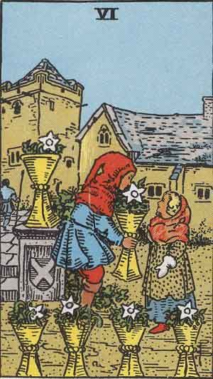 Six of Cups - Rider-Waite