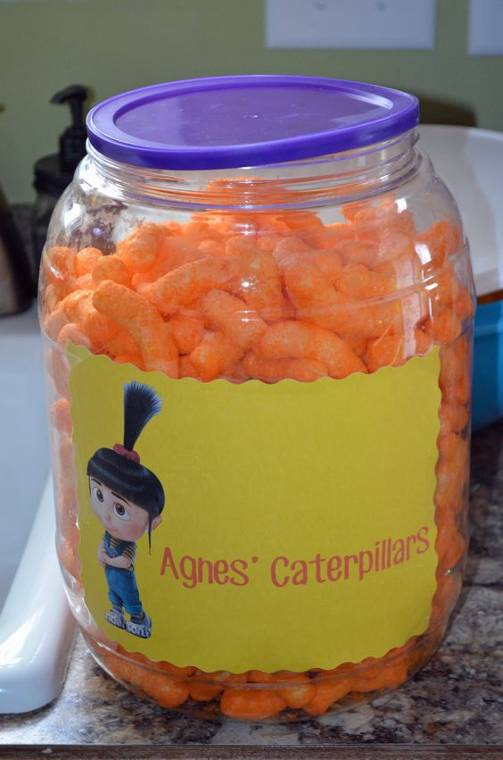 Despicable Me birthday party ideas Agnes' Caterpillars