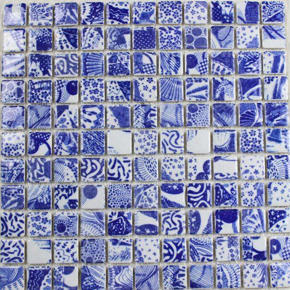 porcelain tile square mosaic design
