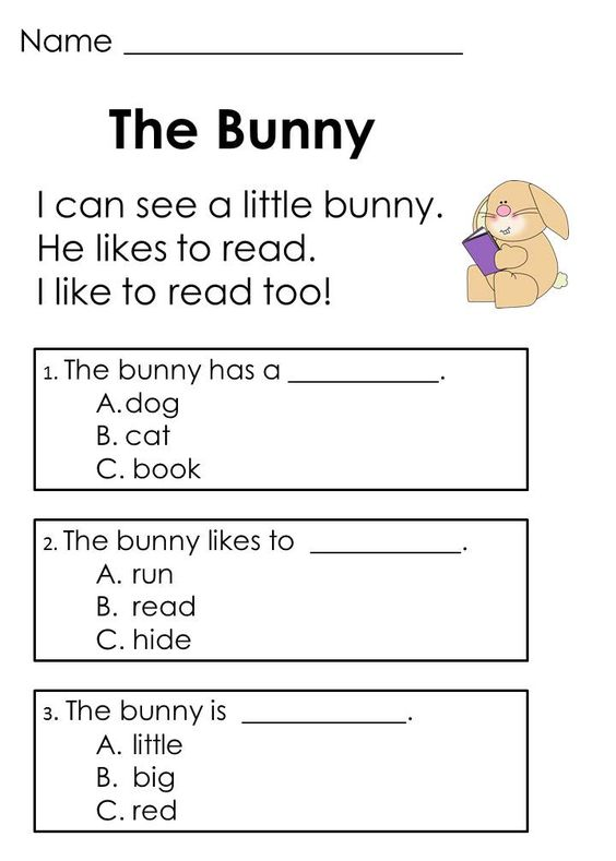 Worksheets Reading Comprehension For Kids comprehension the ojays and learning on pinterest easter reading passages designed to help kids develop skills early in process
