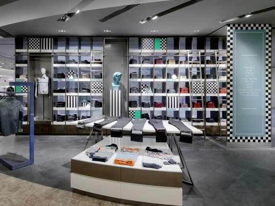 Galeries Lafayette Store By Hmkm Beijing China Viewonretail Product Presentation Pinterest