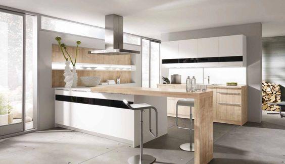 Surprising Kitchen Designs: White Kitchen Wooden Counter Top ~ 3meia5.com Kitchen Inspiration