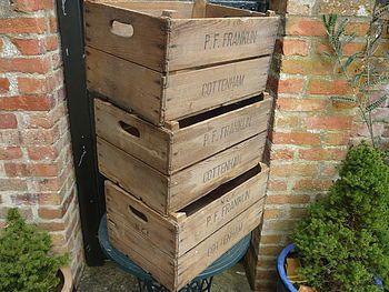 Women's Vintage Apple Crate